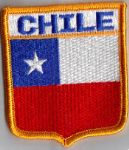 Chile Embroidered Flag Patch, style 06.